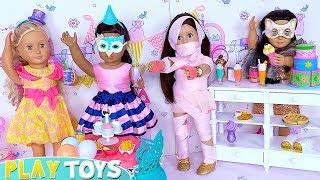 Doll Friends Dress Party Candy Shop Toys! فستان باربي Puppenkleid robe de poupée  vestido de boneca