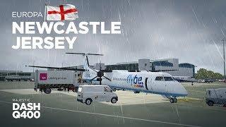 Prepar3D - Dash-8 Q400 / Newcastle → Jersey