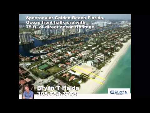 Golden Beach, FL - $13,900,000 Land for Sale