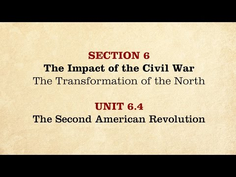MOOC   The Second American Revolution   The Civil War and Reconstruction, 1861-1865   2.6.4