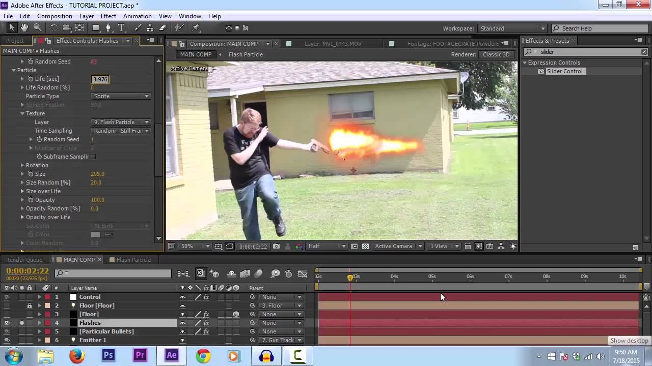 Slow motion muzzle flash after effects tutorial youtube.