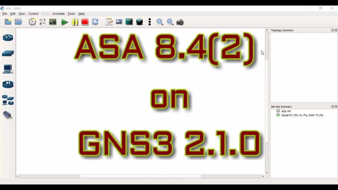 How to add Cisco ASA 8 4(2) Firewall in GNS3 2 1 0