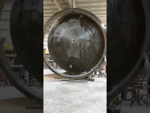 Attaching and Fitting a Support Ring on a 12' Diameter Fiberglass Tank
