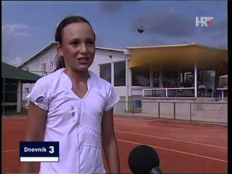 Donna Vekic as a little girl + interview after she won first WTA title