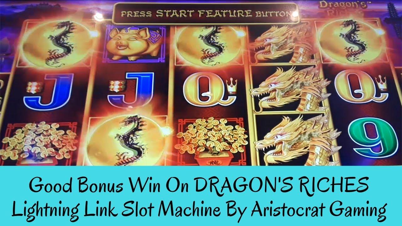 Good Bonus Win On Dragon S Riches Lightning Link Slot Machine Sunflower Slots Youtube