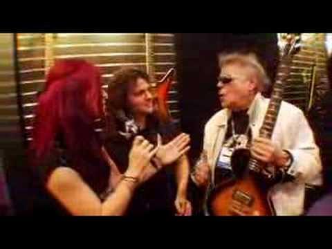 Dean Guitars 2008 NAMM Leslie West Interviews Vinnie Moore
