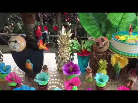 Moana Birthday Party Dessert Table