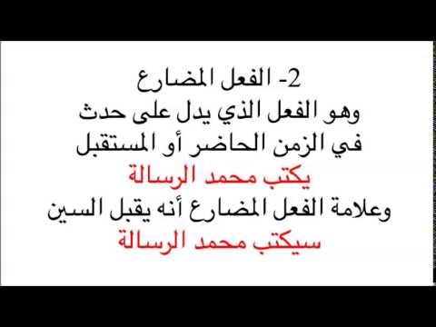 Arapça Gramer Dersleri-7 Mazi, Muzari ve Emir Fiil