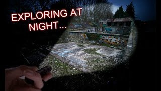 EXPLORING ABANDONED BUILDING AT NIGHT! (SWIMMING POOLS)