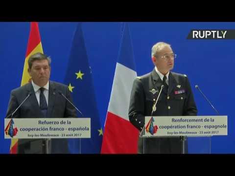 Conférence de presse de Gérard Collomb et et de son homologue espagnol (son original)