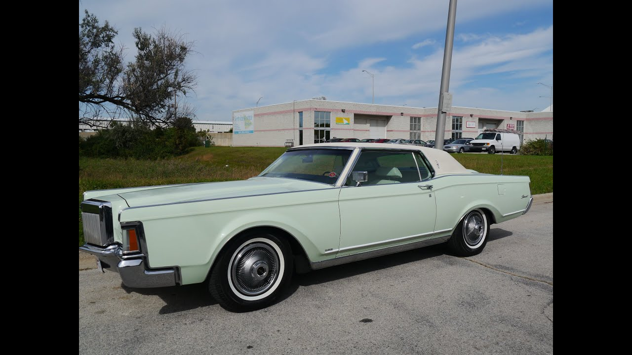 1971 Lincoln Continental MK 3 ***FOR SALE*** - YouTube