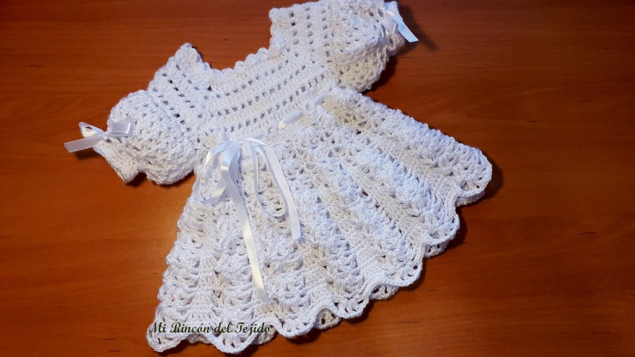How To Crochet A Beautiful Baby Newborn Dress Step By Step Tutorial Part 2 Of 2