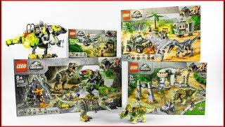 LEGO JURASSIC WORLD COMPILATION All Jurassic World 2019 Sets - UNBOXING