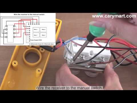 Retroing Manual-operated Winch to Remote Controlled - YouTube on