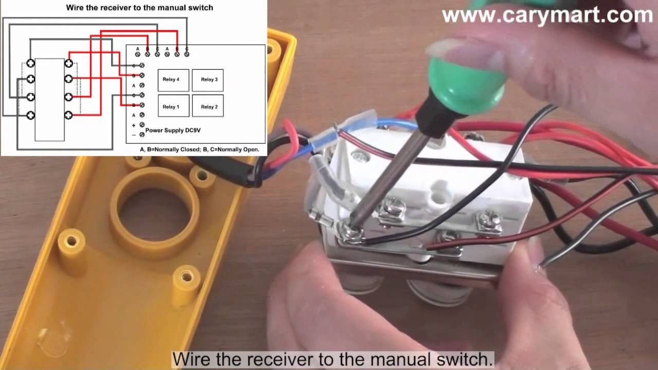 Remote Control Wiring Diagram For Electric Libraries Mafelec Box Retrofitting Manual Operated Winch To Controlled Youtuberemote 18