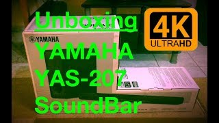 Unboxing YAMAHA YAS-207 Soundbar [DTS, Virtual:X] + Firmware update