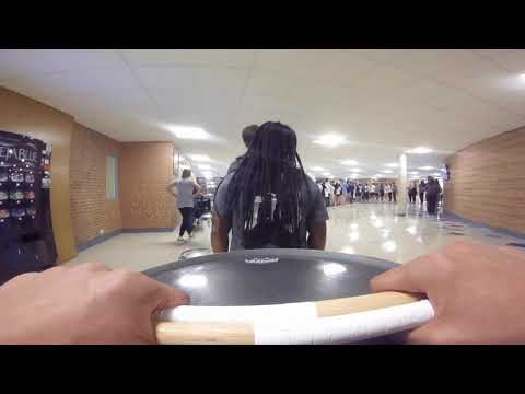 WillowBrook High School Drumline - Snare Cam - Marching the Halls (Afternoon) + Homecoming Assembly