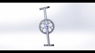 Педали для велосипеда (Schwinn Cruiser One). SolidWorks(Создание модели педалей и передней звездочки для велосипеда., 2016-05-25T09:10:35.000Z)