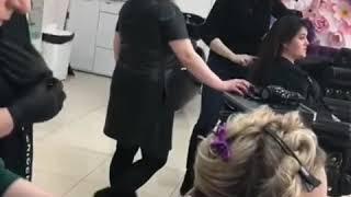 Обучение. Работаем с девчулями) Отработка по кератиновому выпрямлению и ботоксу для волос 💕