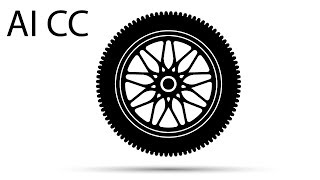 Рисование колеса в Adobe illustrator, draw wheel in AI CC