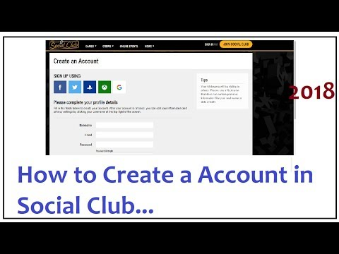 how to create a account in social club 2018
