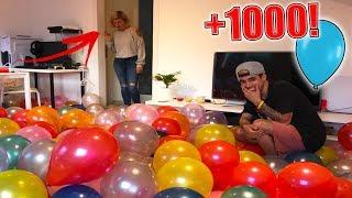 broma a mi novia le lleno la casa de globos se vuelve loca