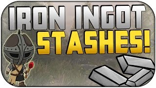 Skyrim Remastered: HOW TO GET TONS OF IRON BARS! | Iron Ingot Stash Locations | Ore, Ingots, Etc!
