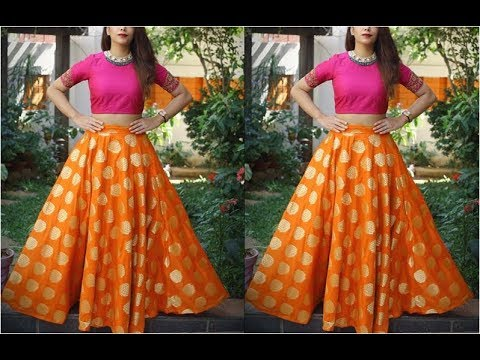 simple-lehenga-with-crop-top-designs-|-beautiful-lehenga-choli-designs-ideas-2019