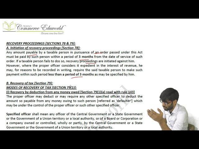 CA Final IDT Super Fast Revision CA Vinesh Savla [Demand, Appeal, Advance Ruling, Refunds under GST]