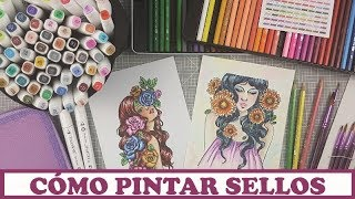 💚Como pintar sellos con lápices acuarelables y rotuladores💚 (patrocinado por Banggood)
