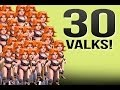 Clash of Clans :: 30 Updated Valk Raid! -SICK LOOT-