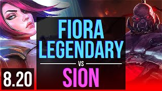 FIORA vs SION (TOP) | Legendary, KDA 20/4/5 | TR Master | v8.20