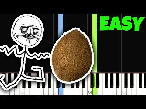 The Coconut Song [Easy Piano Tutorial] (Synthesia)