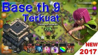 New 2017 | base coc th 9 terkuat | base coc th 9 terbaik | clash of clans