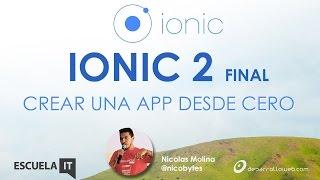 Crear una app desde cero con Ionic 2