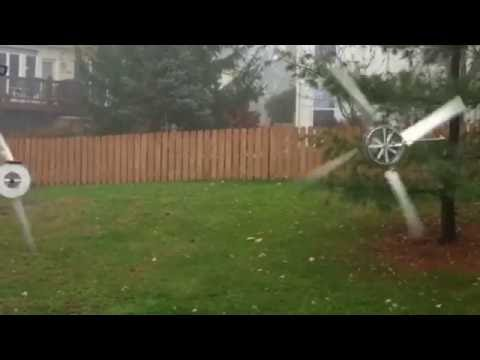 Bent Engineering - The Hanging Wind Turbine during a storm