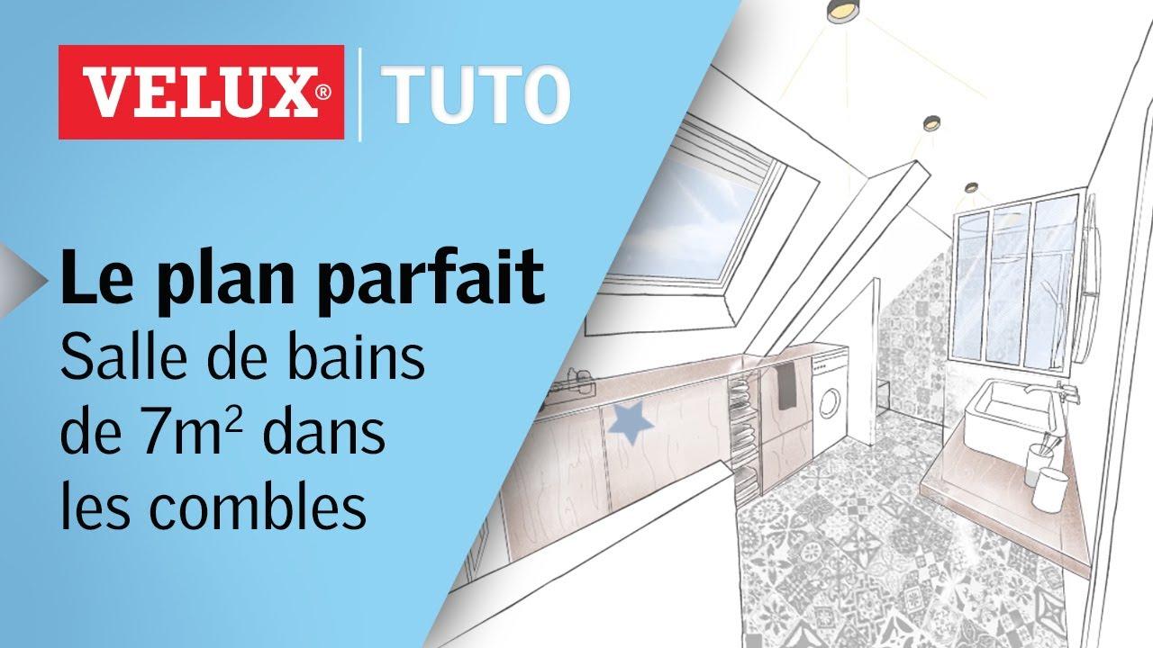 Photo Salle De Bain Sous Comble le plan parfait : salle de bains de 7m² dans les combles