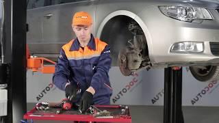 Comment changer Capteur de vitesse de roue SUPERB (3T4) - vidéo manuel pas à pas
