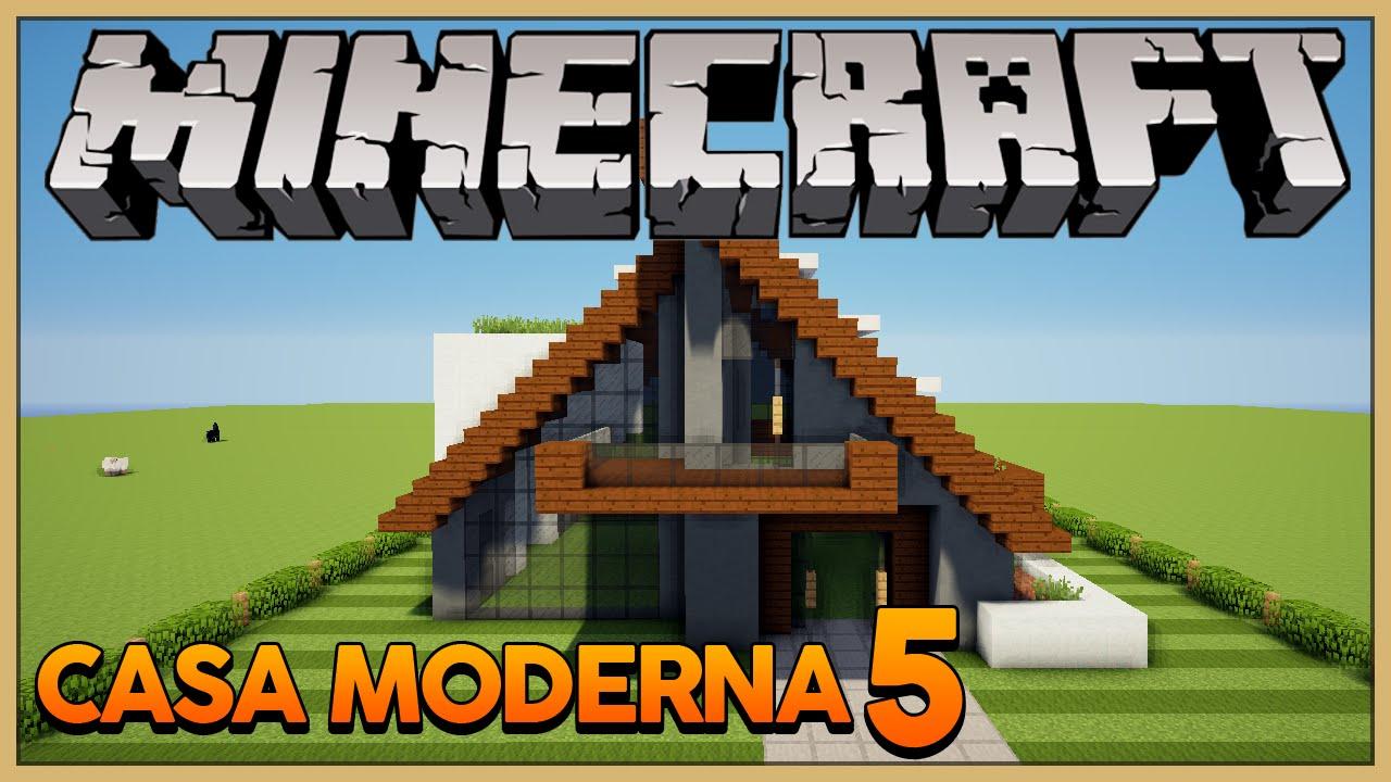 Minecraft construindo uma casa moderna 5 a frame house for Casa moderna 5