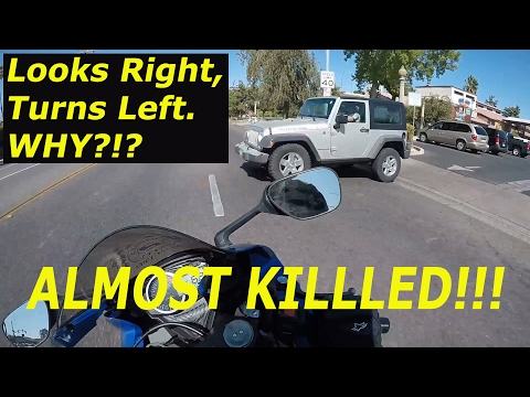 Random Motorcycle Moments 4   Motorcycle almost hit by Car   Fresno GSXR 750 MotoVlog