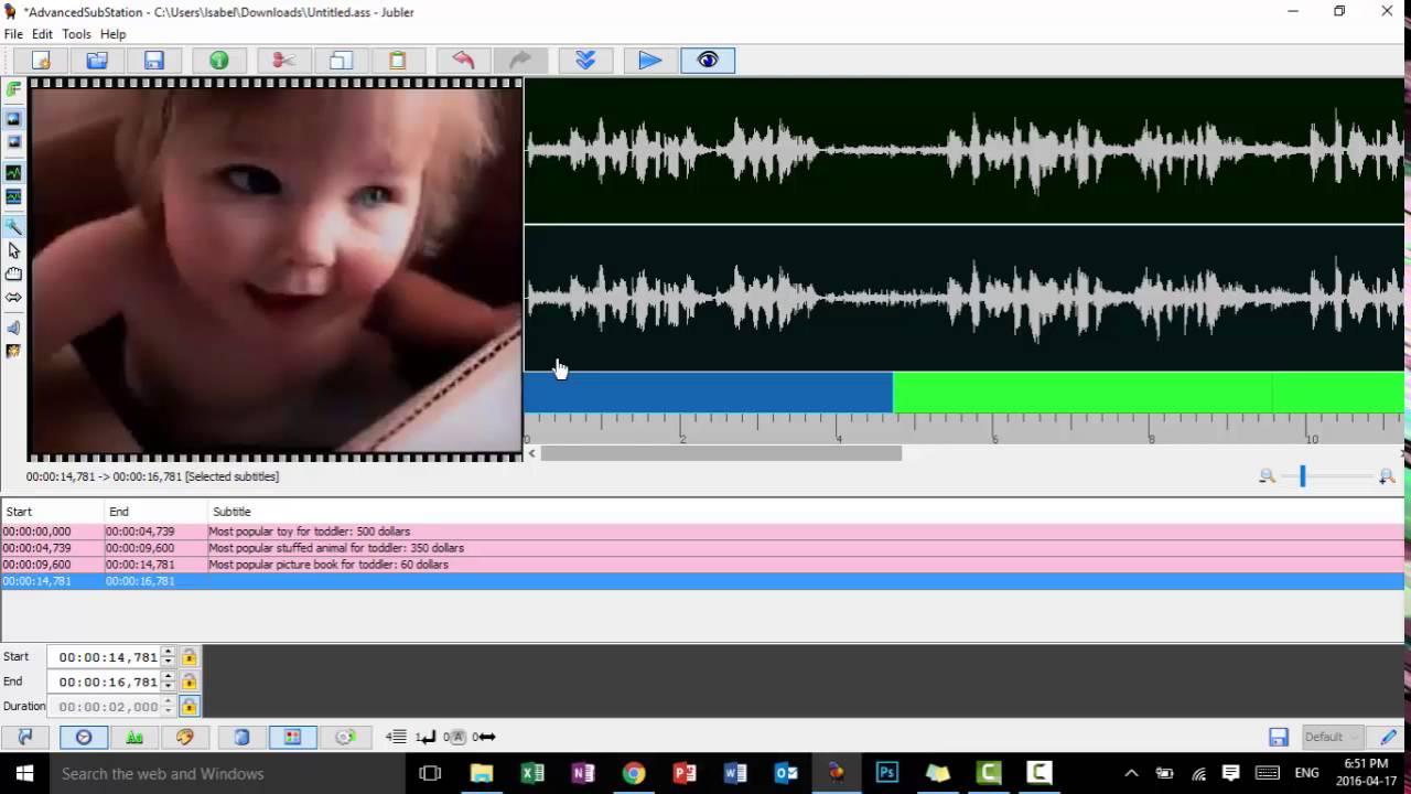 Jubler - Creating Subtitles