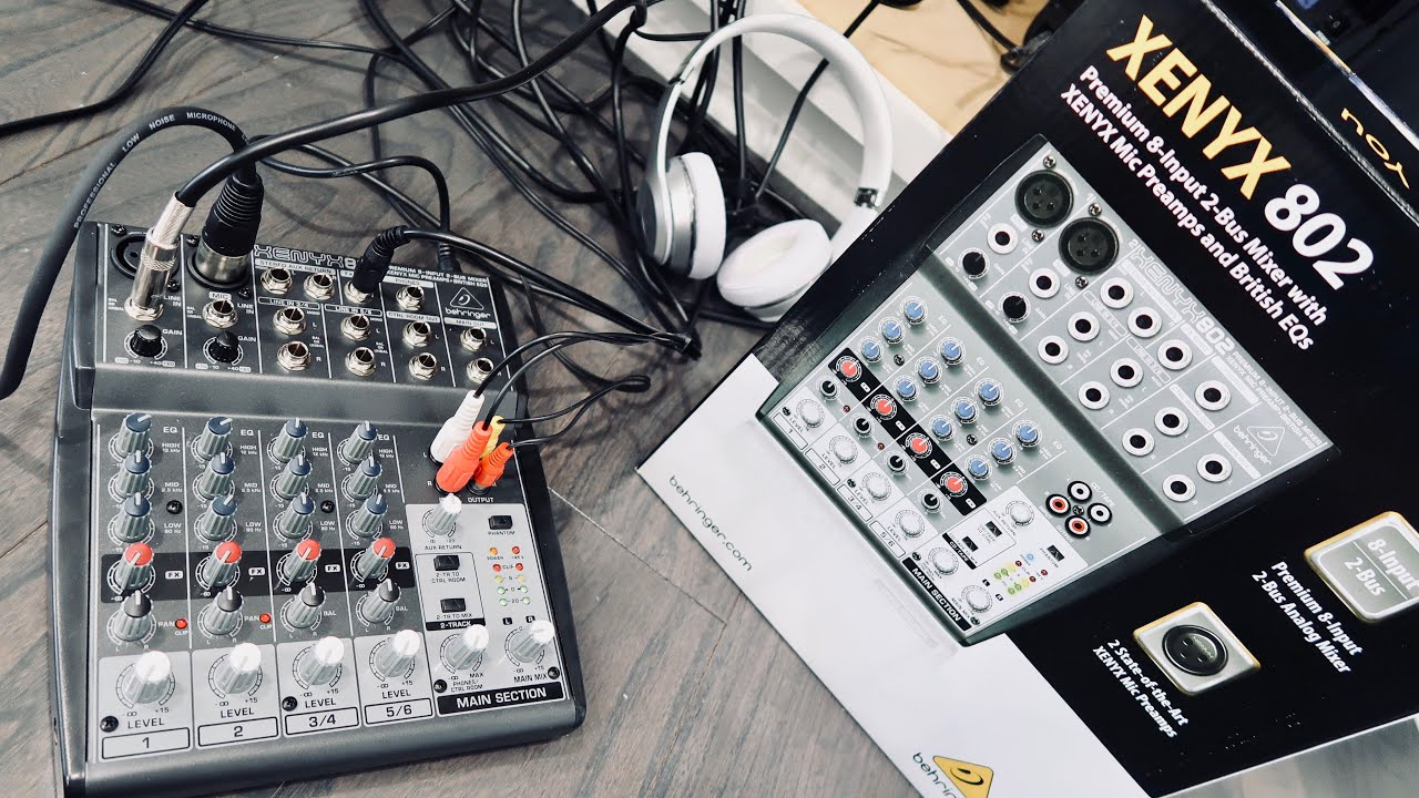 behringer xenyx 802 mixer review set up best compact mixer youtube. Black Bedroom Furniture Sets. Home Design Ideas