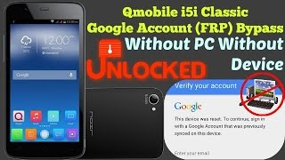 Google account Bypass On Qmobile i5i Classic (FRP Reset) Without PC