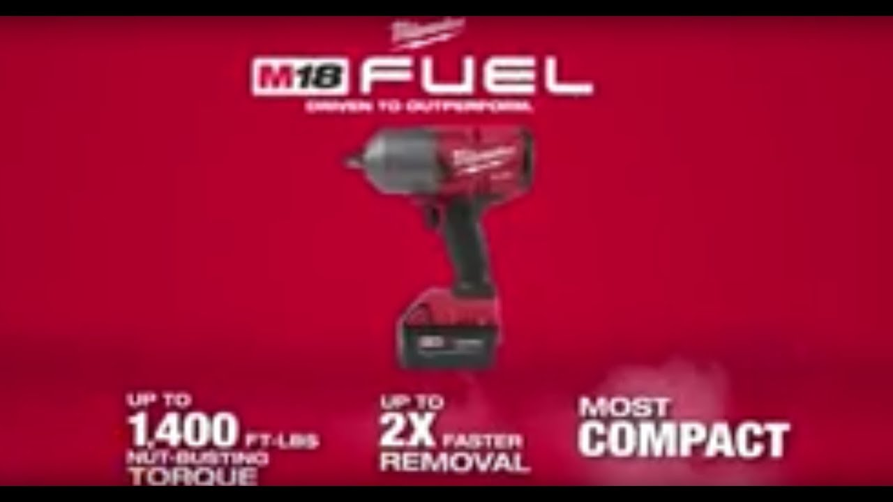 Milwaukee M18 Fuel Cordless High Torque Impact Wrench Kit With Friction Ring 1 2in Drive 1400 Ft