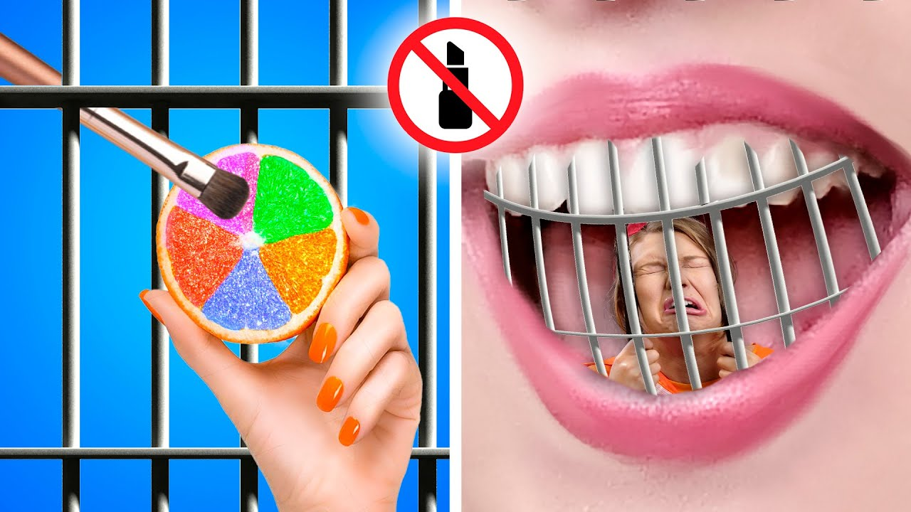 Weird Ways to SNEAK MAKEUP INTO JAIL | Awesome Makeup Sneaking Ideas by GOTCHA!