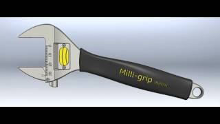 Milli-grip precision adjustable spanner animation
