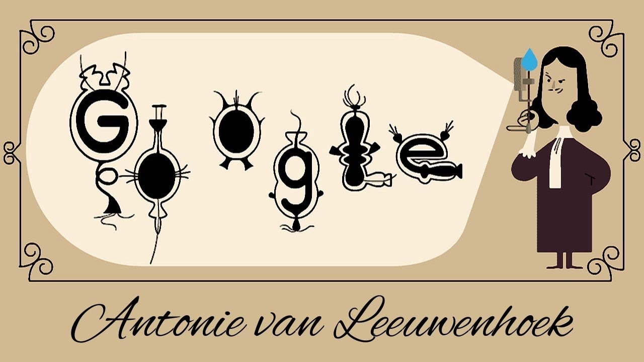 Image result for antoni van leeuwenhoek google doodle artist