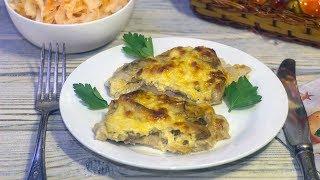 Свинина с грибами и сыром в духовке