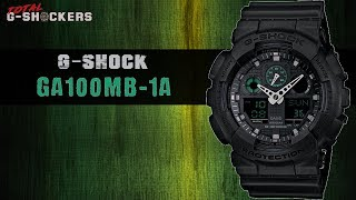 Casio G-SHOCK GA100MB-1A | G Shock GA100MB-1A Top 10 Things Watch Review