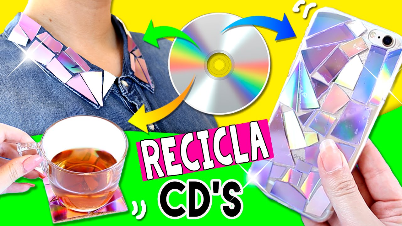4 manualidades faciles para reciclar tus cd 39 s ideas diy - Manualidades de reciclaje faciles ...